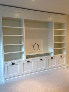 Playroom storage 43 wall units for tv, built in tv wall unit, built in Living Room Built Ins, New Living Room, Living Room Decor, Wall Cabinets Living Room, Living Room Wall Units, Wall Shelving Living Room, Storage Ideas Living Room, Living Room Without Fireplace, Bedroom Wall Units