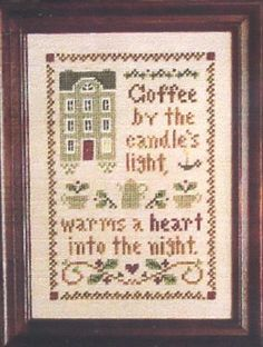 Spot of Coffee - Little House Needleworks - $2