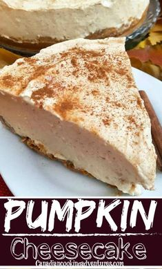 This No Bake Pumpkin Spiced Cheesecake is easy to make and is the best fall dessert. It is made with Philadelphia cream cheese and has a easy homemade pie crust. Perfect to make ahead and serve to your holiday guests! Think Thanksgiving, Christmas or Halloween. #Halloween #DessertRecipes #Christmas #Thanksgiving #PumpkinSpice #Cheesecake Frozen Pumpkin, Baked Pumpkin, Pumpkin Recipes, Pumpkin Spice, Healthy Pumpkin, No Bake Pumpkin Cheesecake, Cheesecake Recipes, Dessert Recipes, Breakfast Recipes