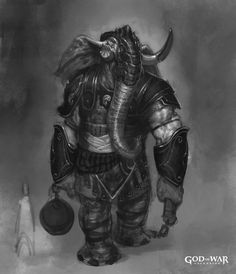 View an image titled 'Elephantaur in Persian Armor Art' in our God of War: Ascension art gallery featuring official character designs, concept art, and promo pictures. Fantasy Races, High Fantasy, Fantasy Rpg, Dungeons And Dragons Characters, Fantasy Characters, God Of War, Character Portraits, Character Art, Character Inspiration