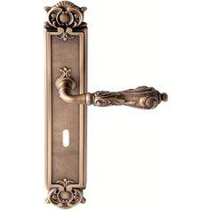 Door handle back plate, Antique bronze, interior - Model VENICE - Liberty Design Door Handles - VillaHus.co.uk