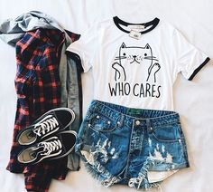 Imagen de fashion, outfit, and style Cute Outfits For School, Teenage Girl Outfits, Girls Fashion Clothes, Teenager Outfits, Cute Summer Outfits, Teen Fashion Outfits, Cute Casual Outfits, Outfits For Teens, Pretty Outfits
