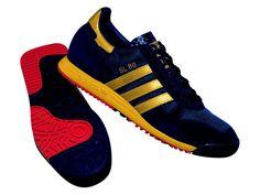 Adidas Originals SL 80 navy/gold, my favourite colourway