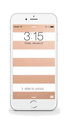 Free Rose Gold Stripes iPhone Background from bloom daily planners