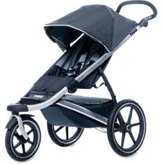 The Thule Urban Glide is a lightweight, easy-fold stroller that features rear suspension for a smooth ride. It comes with a large, waterproof storage compartment, making it ideal for jogs in the outdoors or use in inclement weather. www.rightstart.com