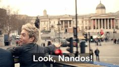 Haha Niall, always getting excited when you see Nandos!
