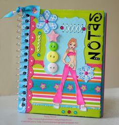 Stamping Paper: Libretas. Altered notebook.  Notebook. Cuaderno decorado. Libro alterado. Book.