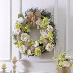 Roses and Burlap Wreath | Kirklands