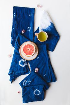 badef9a508c Make Your Own Shibori Kitchen Towels for a thoughful homemade Mother s Day  gift! Shibori
