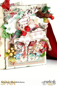December Daily Album St. Nicholas Petaloo and Xyron Blog Hop by Marina Blaukitchen Product by Graphic 45