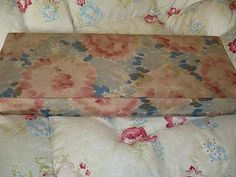 Vintage fabric covered French box