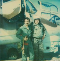 Soviet helicopter gunship crew in Angola sometime between January 1988 and December 1989.