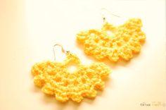 the new crochet: Fan like Earrings make a great gift!!! (+ pattern)