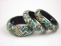 Polymer Clay Necklaces, and bangles by Carol Blackburn