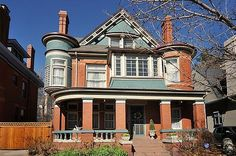 OldHouses.com - 1892 Victorian: Queen Anne - Historic Hastings-Evans House in Cheesman Park in Denver, Colorado
