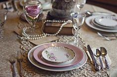 Silver or Gold? Silver and Gold? :  wedding blush colors gold lace mismatched china pearls shabby chic silver victorian vintage white 600x600 1313160538737 RMD103b