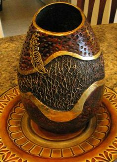 Gourd art by Kathy Baylor