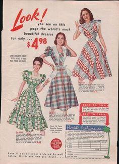 1948 Print Ad Florida Fashion Inc Beautiful Dresses  www.advintageplus.com