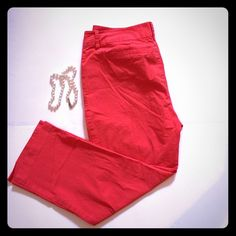 Nautica pants Cute coral colored pants! Ankle length. Nautica Pants Ankle & Cropped