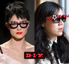 DIY Sunglasses Prada Spring 2013 DIY Sunglasses DIY Refashion