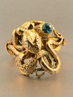 Gold Octopus Ring  Octopus Jewelry  Tentacle Jewelry by martymagic, $2800.00