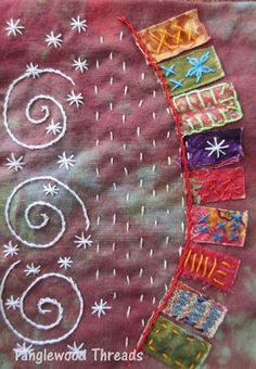 This is a beautiful example of the work being done by my quilting teacher.