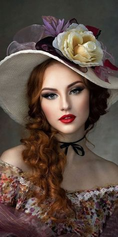 Beautiful Girl Image, Beautiful Roses, Portrait Art, Portrait Photography, Female Protagonist, Fantasy Art Women, Girls With Flowers, Fair Lady, Girl With Hat