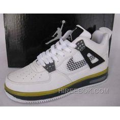 0570a64baaa889 Air Jordan Force Fusion 4 White Black Grey Yellow Offres De Noël