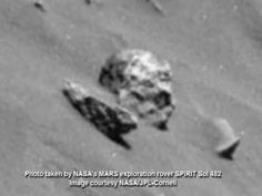 Mars skull - Sol 482 - amaizing clear image of another skull on mars - Alien UFO Videos