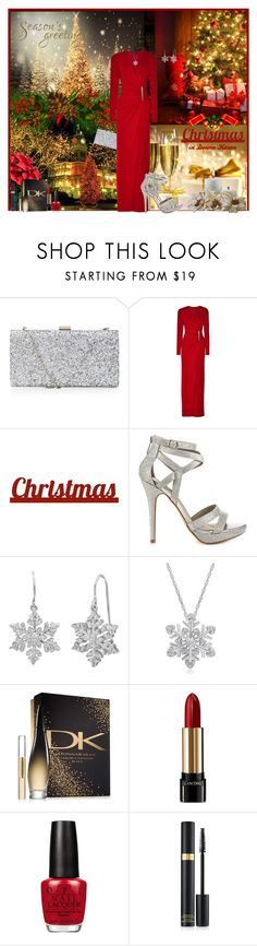 """""""CHRISTMAS IN DONNA KARAN"""" by arjanadesign ❤ liked on Polyvore featuring Donna Karan, Sixtrees, Michael Antonio, Amanda Rose Collection, Lancôme, OPI, Tom Ford, dkny, donnakaran and Christmas2015"""