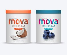 Packaging of the World: Creative Package Design Archive and Gallery: Mova Ice Cream