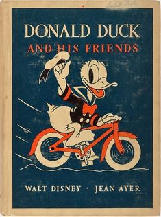 Donald Duck and His Friends. Walt Disney 1939 - For more great pics, follow www.bikeengines.com