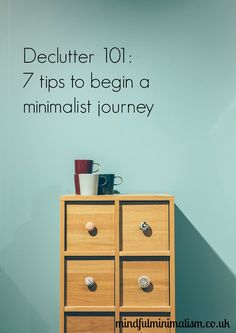 I've tried numerous techniques along the way. Some have stayed, some have been discarded along with more clutter. These however are my top tips to get started. Minimal Living, Simple Living, Minimalism Blog, Declutter Your Life, Mindfulness Meditation, Minimalist Home, Potpourri, Happy Life, Tricks
