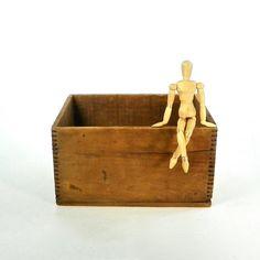 Vintage Wooden Storage Box Wooden Storage by OldRedHenVintage