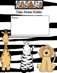 Jungle Theme-Take Home Folder Cover----- FREE