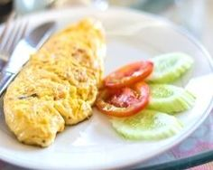 omelette concombre