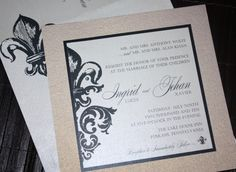 Fluer De Lis. Wedding Invitation ...