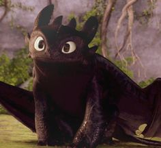 Toothless from How to Train Your Dragon.