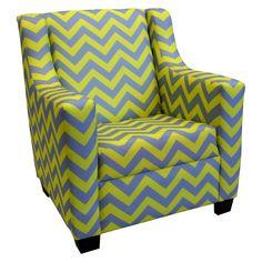 Komfy Kings Retro Chevron Rocking Chair - Yellow/Gray