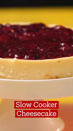 Slow Cooker Desserts, Slow Cooker Recipes, Crockpot Recipes, Fun Baking Recipes, Sweet Recipes, Cooking Recipes, Easy Cheesecake Recipes, Dessert Recipes, Cooker Cheesecake