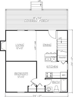 3br 2 bath 24x40 home perfect for arch cabin a girl can for 24x24 house plans with loft