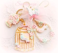 Sweets esinclay Keyholder #sweetsdeco#resinclay#cute#doress#ゆめかわいい#スイーツデコ