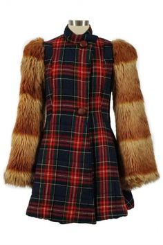 VINTAGE : Alley Cat by Betsey Johnson 1970s Tartan Coat