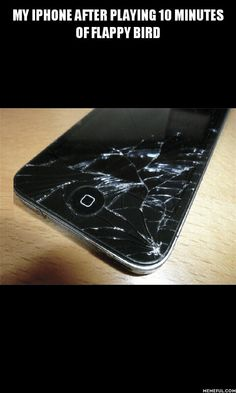 My Phone after playing Flappy Birds  // funny pictures - funny photos - funny images - funny pics - funny quotes - #lol #humor #funnypictures