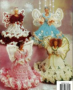 Barbie Crochet Pattern Fashion Doll Angels  Annie's Attic 87D74.