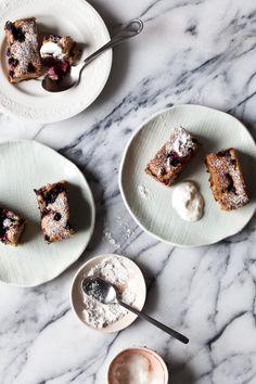 Berry and Hazelnut Cakes