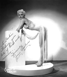 "June Darlene   aka. ""The Blonde Cyclone""..    Vintage 50's-era promo photo personalized: ""To Frankie — Wishing you lots of luck and success.. Sincerely,  June Darlene"""