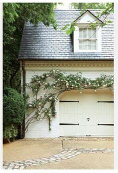 Dream garage with beautiful slate roof.