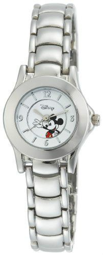 NEW DISNEY MICKEY MOUSE SILVER-TONE WOMEN'S WATCH WHITE DIAL MK2036 #Swatch