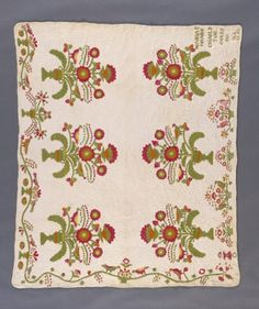 1857 Appliqued Quilt by Maria Gregg Hanks (U.S., 1835-1914), LACMA Collections